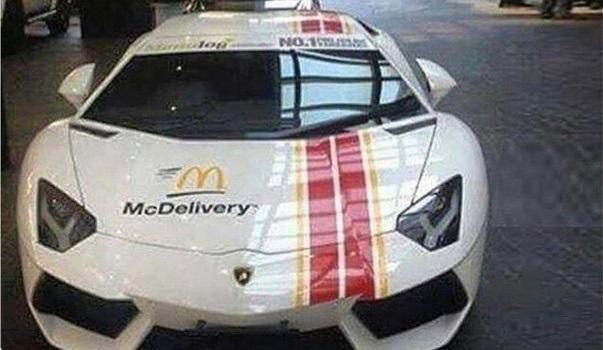 McDonalds hará entregas en Lamborghinis en Dubái