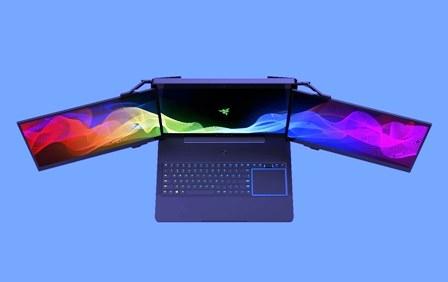 Presentan laptop con tres pantallas